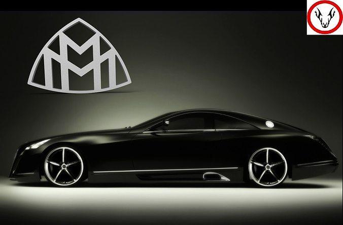 maybach logo 3d model cgtrader