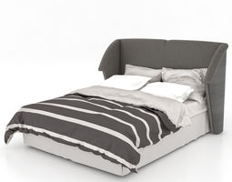Classic Bed and Headboard 3D Model