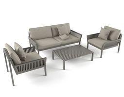 Garden Sofa Set 3D Model