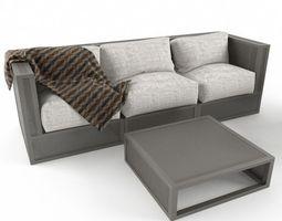 Garden Sofa Set 2 3D Model