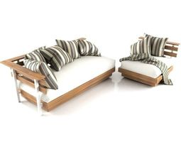 Mudo Outdoor Sofa Set 3D Model