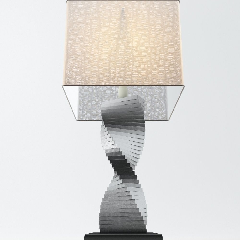 Spiral table lamp 3d model max obj 3ds fbx cgtradercom for Table lamp 3ds max