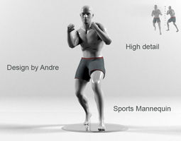 Sports Mannequin Boxer 3D
