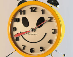 3D asset Alarm clock
