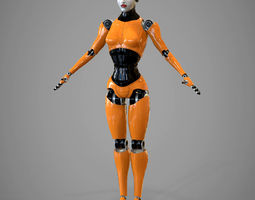 3D Robotic girl