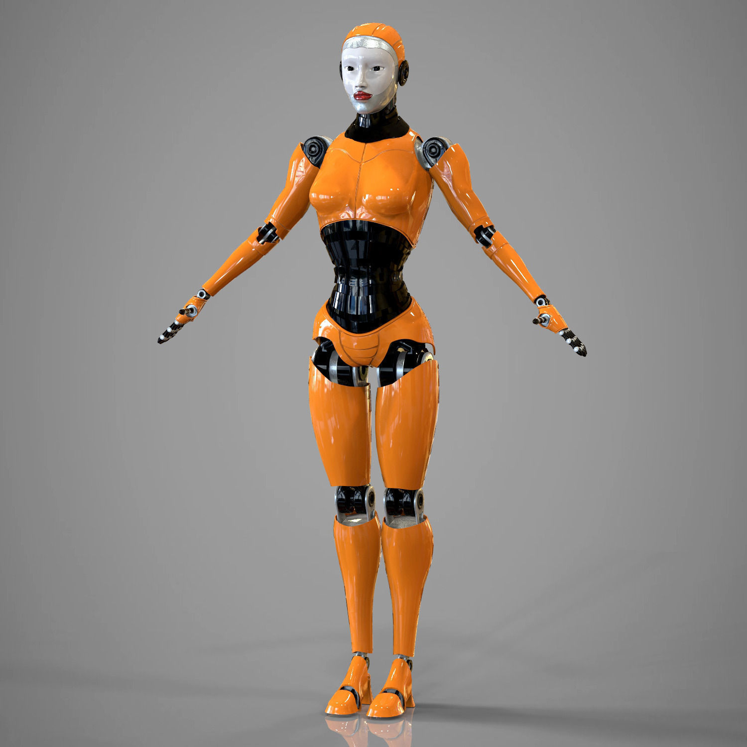 Robotic girl | 3D model