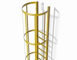 safety cage ladder 3d