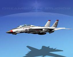 Grumman F-14-D Tomcat T02a VF143 3D Model