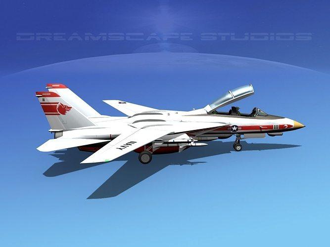 grumman f-14d tomcat t03a vf1 3d model max obj mtl 3ds lwo lw lws dxf stl 1