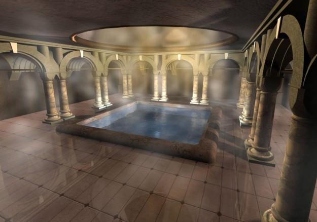 Ancient bath 3d model max obj 3ds fbx for 3d bathroom models
