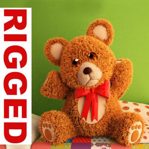 Teddy Bear cartoon rigged3D model