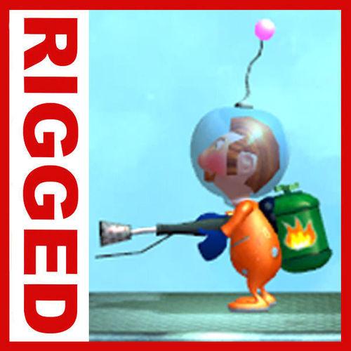 Astronaut cartoon rigged3D model