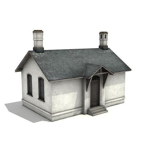 White Brick Building3D model
