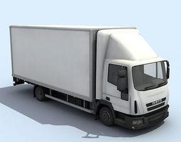 Medium Size Truck 3D Model