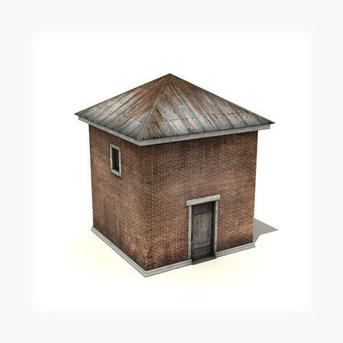 Small Industrial Building3D model