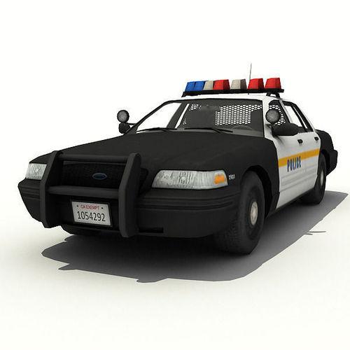 nypd police car 3d model game ready max obj 3ds fbx dae tga. Black Bedroom Furniture Sets. Home Design Ideas