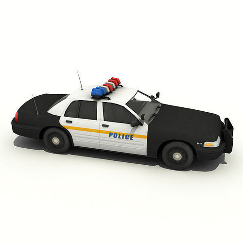 NYPD Police Car3D model