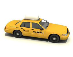 New York Taxi Car 3D Model