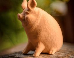 3d print model garden pig