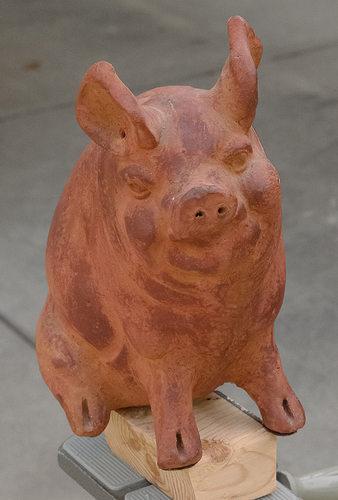 garden pig free 3d model 3d printable stl