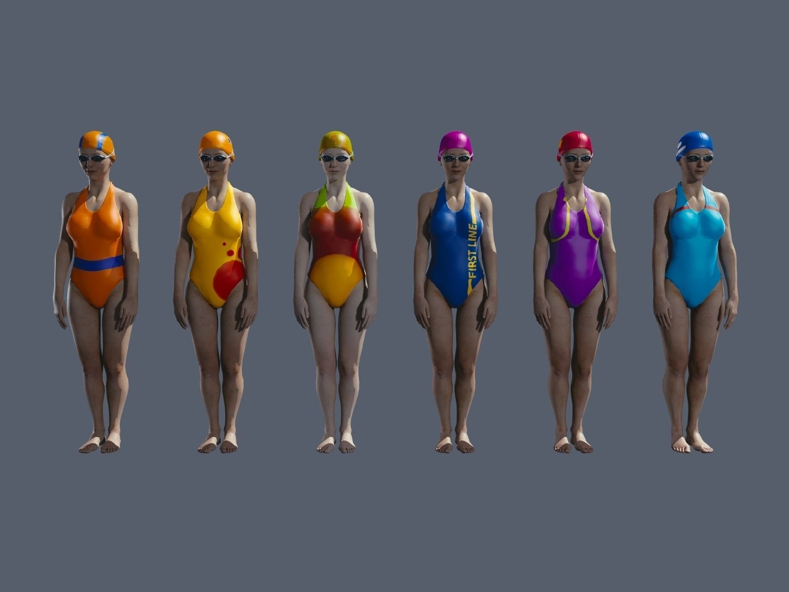 Free texture pack for swimming pool people free 3d model for Pack swimming
