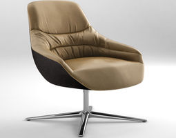 walter knoll kyo lounge chair 2015 3d model max obj