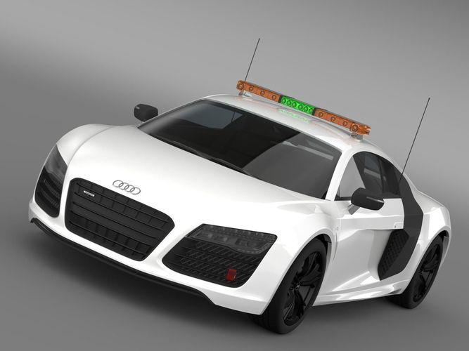 Audi R8 V10plus Safety Car3D model