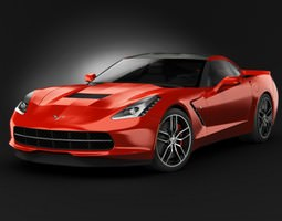 3D Chevrolet Corvette C7 Stingray 2014