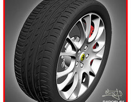 Tire P zero nero 3D Model