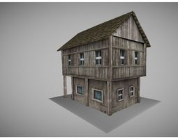low poly medeival house  3D Model