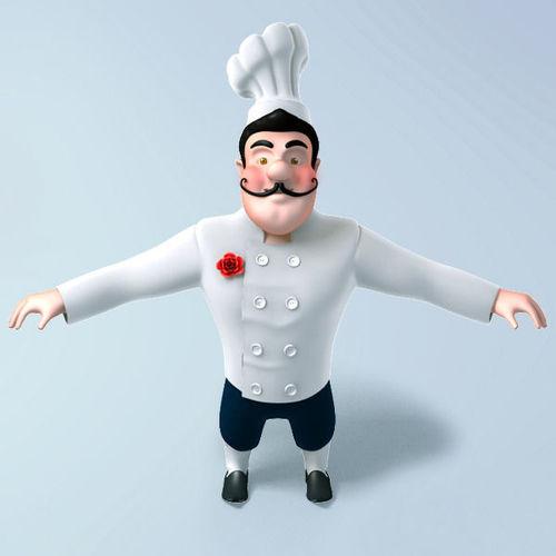Chef cartoon3D model