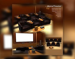 home theater 3d model max obj 3ds lwo lw lws