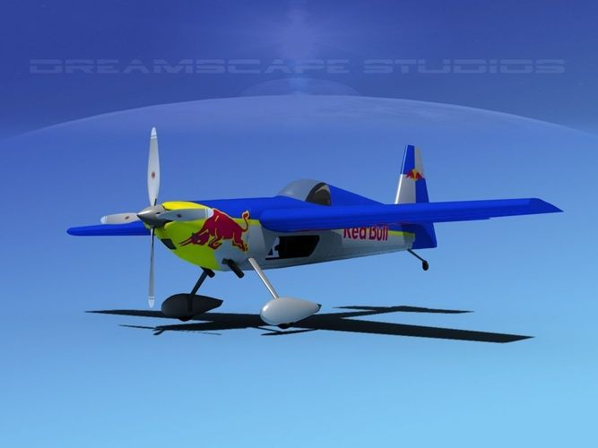 zivko edge 540 v02 3d model rigged max obj 3ds lwo lw lws dxf stl 1