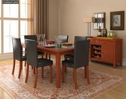 Dining Room 1 Set 3D asset