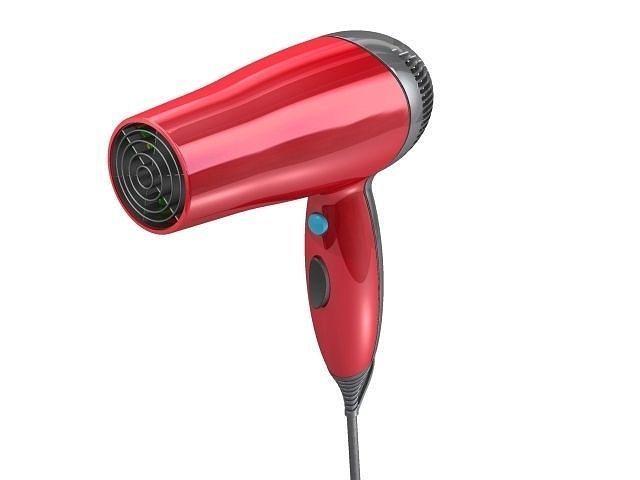 Animated Hair Dryer ~ D hairdryer cgtrader
