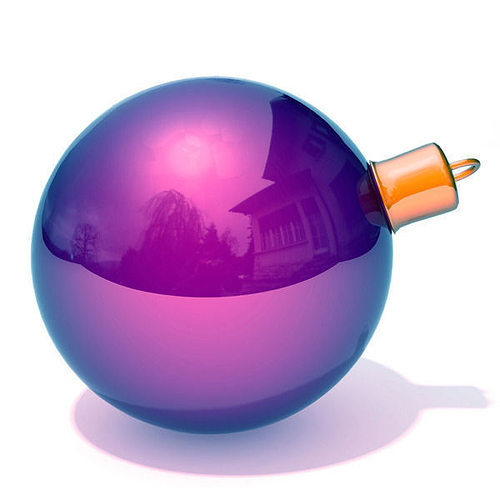 christmas bauble 3d model low-poly max obj mtl ma mb 1