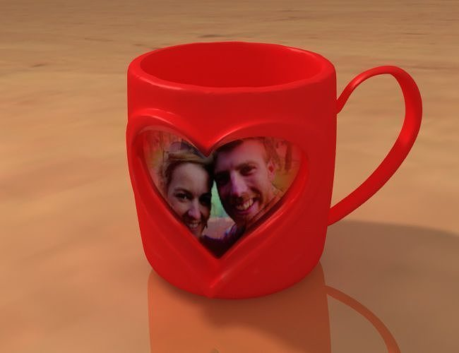 couple in a heart cup 3d model stl 1