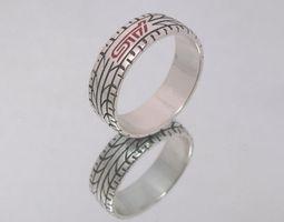 subaru impreza sti ring for enameling 3d print model