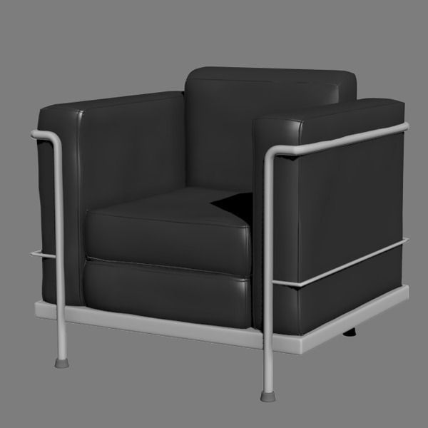 3D Le Corbusier Chair CGTrader