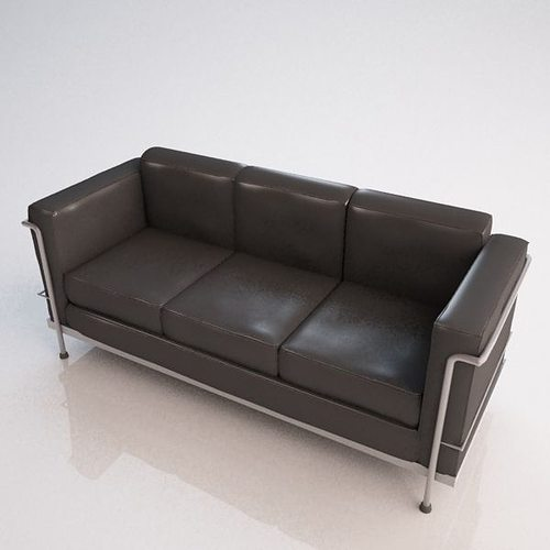 3d le corbusier sofa cgtrader for Le corbusier sofa nachbau
