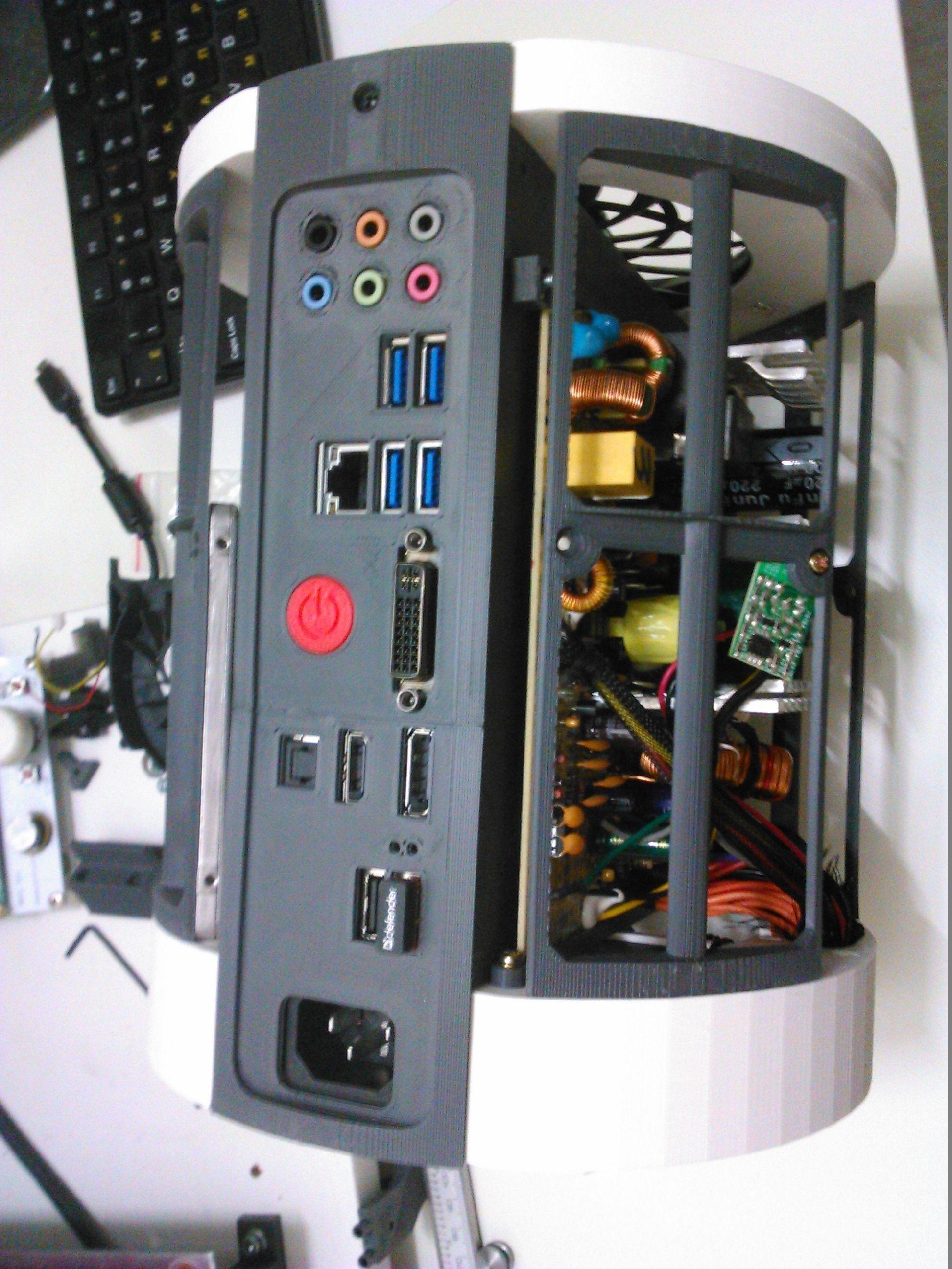 Car Exterior Parts >> Full Printable ITX Case Mac Pro 2013 style 3D Model 3D ...
