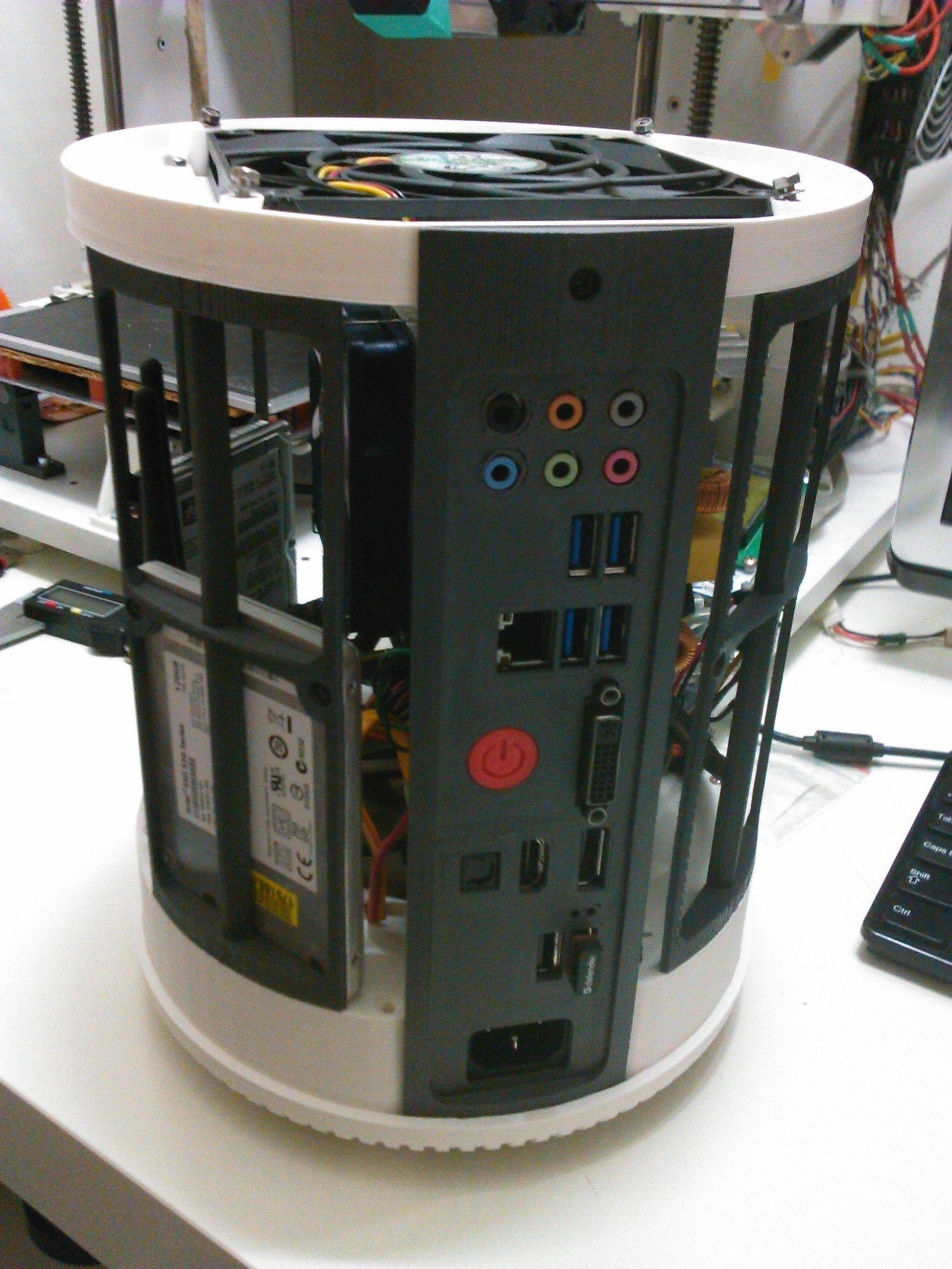 Full Printable ITX Case Mac Pro 2013 style 3D Model 3D ...