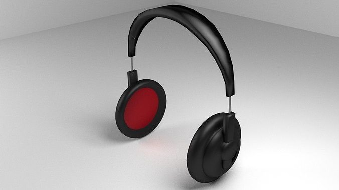 earphone 3d model obj 3ds lwo lw lws blend dae mtl 1