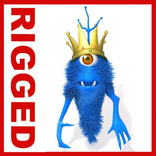Monster King Rigged Cartoon3D model