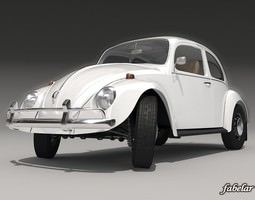 3D model Volkswagen Beetle 1300 1963
