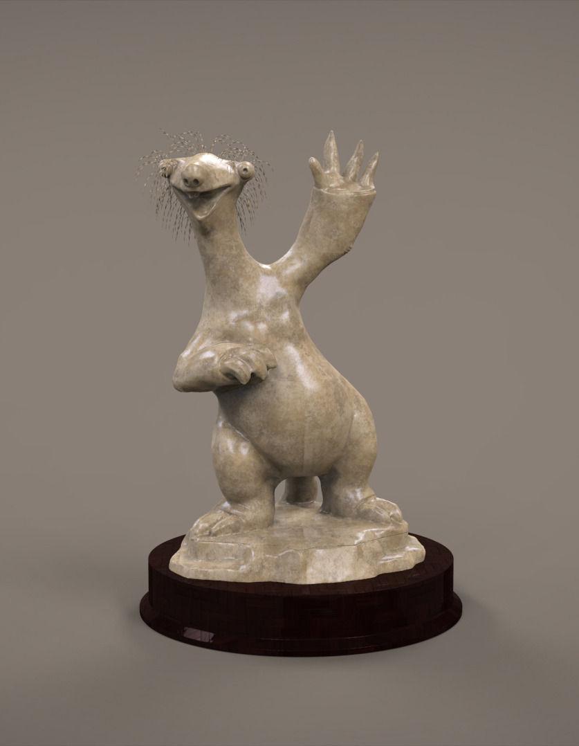 Sid Sloth 3D Model 3D printable .stl - CGTrader.com