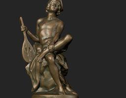 Figurine musician 3D Model