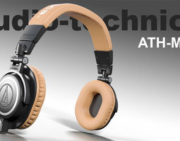 3D asset Audio technica ATH-M50x headphones PBR