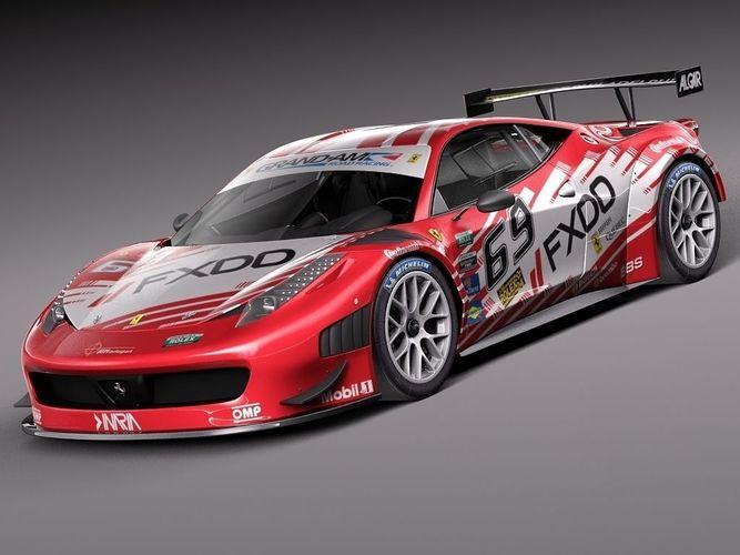 Ferrari 458 Gt3 Race Car 2014 3d Model