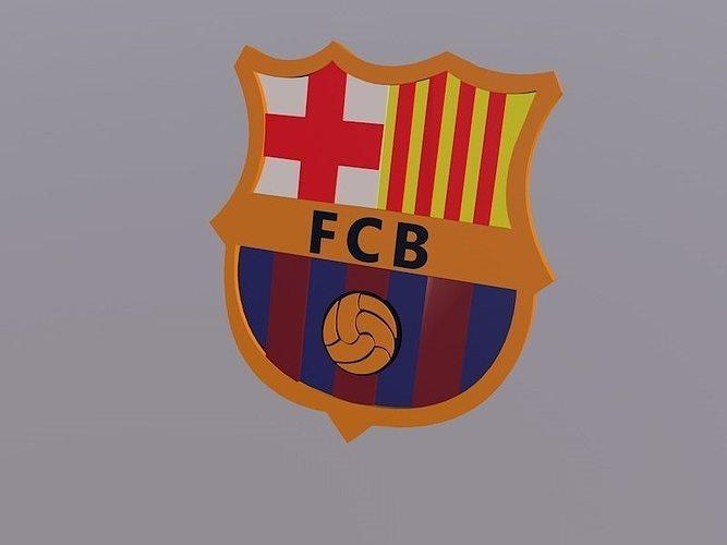 3D Barcelona Logo Football Club | CGTrader